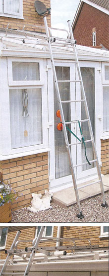 Conservatory Ladders With Suction Pads