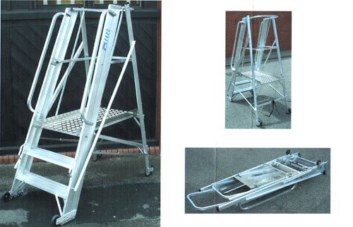 Industrial Alloy Folding Work Platform
