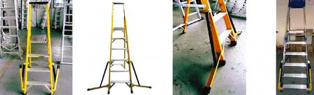 Stabilised Stepladders